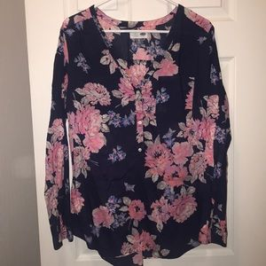 Women's Old Navy size XL Floral Tunic